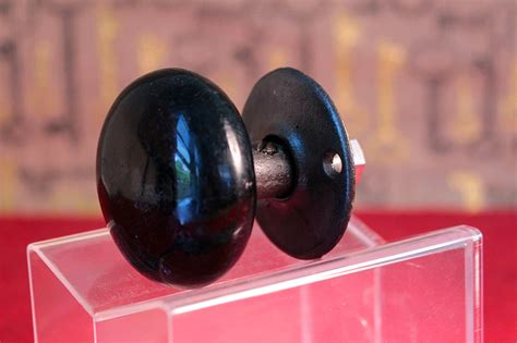 One Sided Door Knob by Antique Black Porcelain Ceramic Decorative Door Knob One