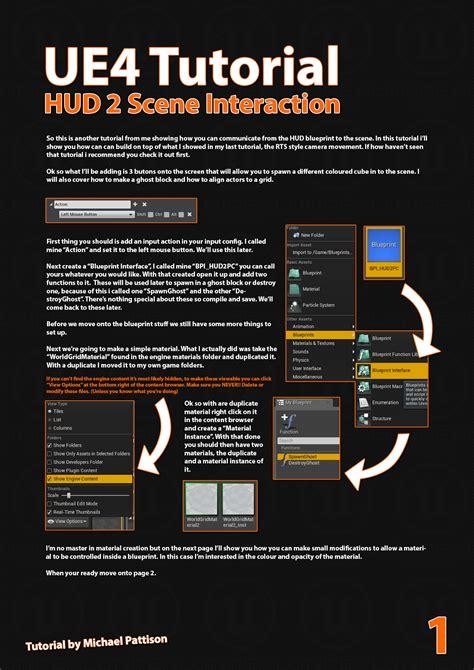 tutorial c ue4 voxagon ue4 tutorial hud to scene interaction