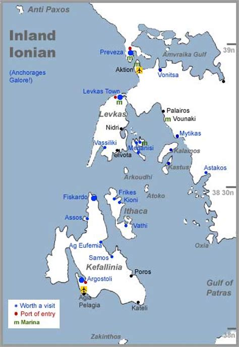 ionian sea map lefkas kefalonia sailing for a week cruisers sailing