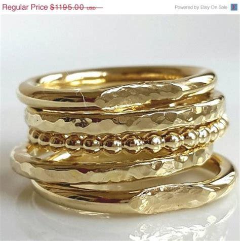 14k Gold Rings   Five Gold Rings   Handmade   Venexia