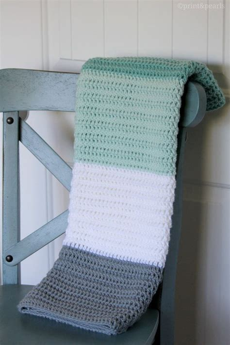 Modern Baby Blanket Knitting Patterns by Mint And Gray Crochet Baby Blanket Modern Crochet Baby