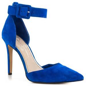 jessica simpson cayna cobalt blue suede women shoes
