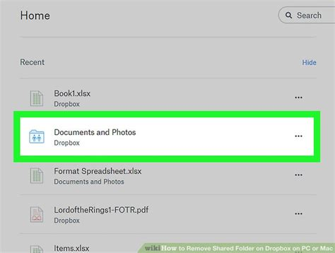dropbox remove shared folder how to remove shared folder on dropbox on pc or mac 10 steps