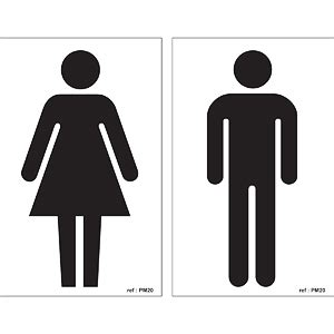 male female bathroom symbols door sign male female toilet symbols
