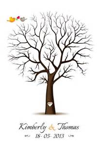 Thumbprint Tree Template by Fingerprint Guest Book Template Fingerprint Tree