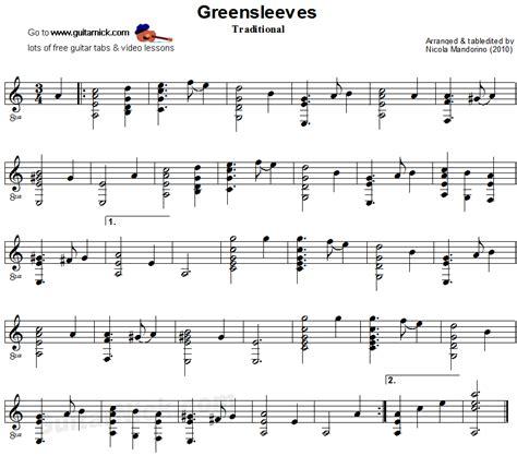 tutorial gitar pdf r 233 sultat de recherche d images pour quot greensleeves guitar