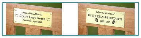 memorial bench plaques sayings memorial bench plaques wording benches