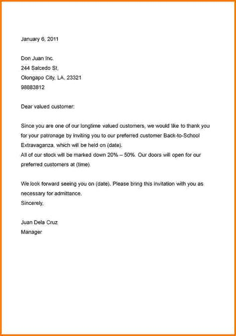 business letter sle invitation 28 images 9 invitation