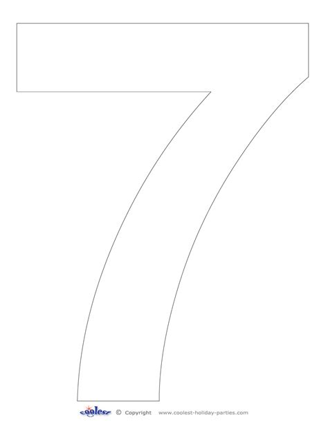 best photos of free printable best photos of free printable number 7 large stencil
