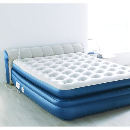 aerobed with headboard aerobed 174 premier queen air bed with headboard sears
