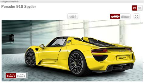 porsche configurator porsche 918 configurator shows a starting price of 845 000