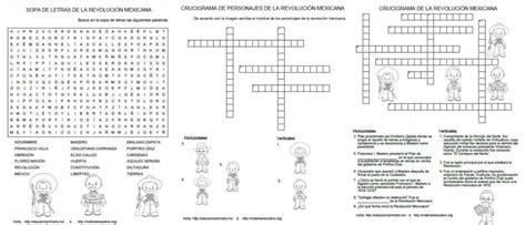 ciudadania mexicana preguntas sopa de letras y crucigramas de la revoluci 243 n mexicana