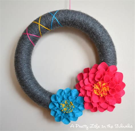 Cp Dahlia summer dahlia flower wreath allfreeholidaycrafts