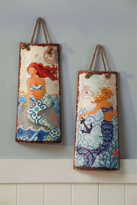 ceramic wall decorations ceramic mermaid wall decor set of 2