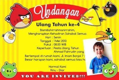 Contoh Undangan Resmi Ulang Tahun Dan Indonesia by Contoh Undangan Tidak Resmi Ulang Tahun Dalam Bahasa