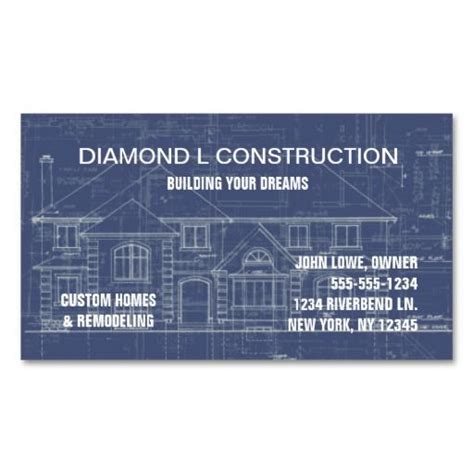 excavating business card templates 186 best construction business cards images on