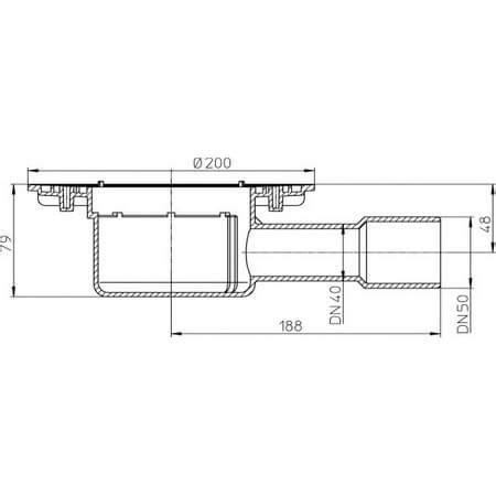 Floor Drain Tekan Nk hutterer lechner floor drain horizontal dn40 50