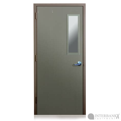 bullet resistant solid metal doors