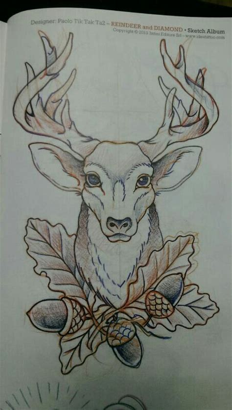 stag head designs deer tattoo neo traditional buscar con google ciervo