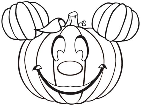 simple pumpkin happy halloween coloring pages
