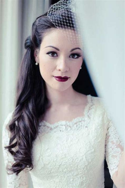 Vintage Wedding Hair Half Up by 15 Half Up Half Bridal Hair Hairstyles Haircuts
