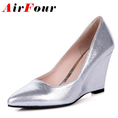 silver wedding shoes wedges get cheap silver wedge wedding shoes