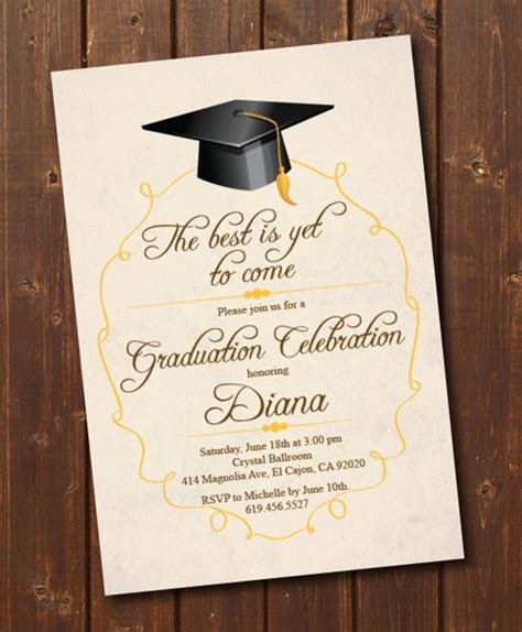 invitation card template graduation 76 invitation card exle free sle exle format
