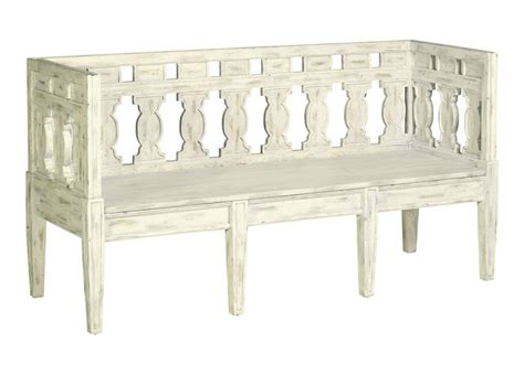 emory swedish gustavian shabby chic white wash storage bench kathy kuo home