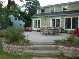 25 best raised patio ideas on retaining wall