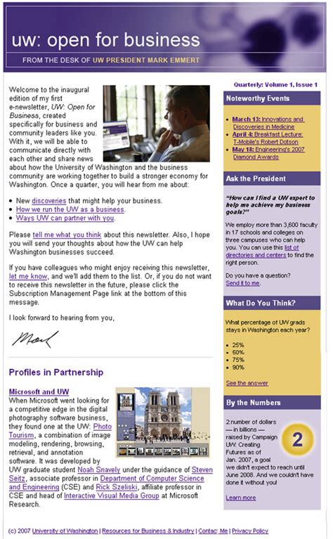 newsletter layout css web graphic designer michael young seattle