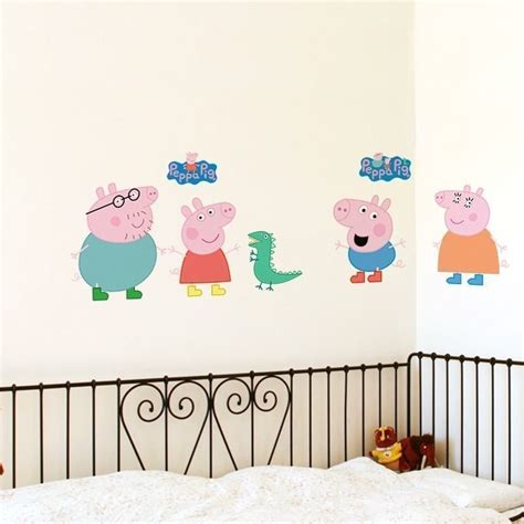 Nursery Decoration Stickers Peppa Pig Nursery Wall Sticker Decoration Well And Truly Stuck Stickers