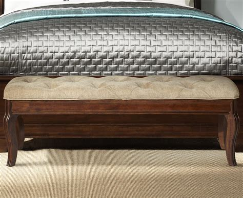 upholstery alexandria liberty furniture alexandria accent bed bench h l
