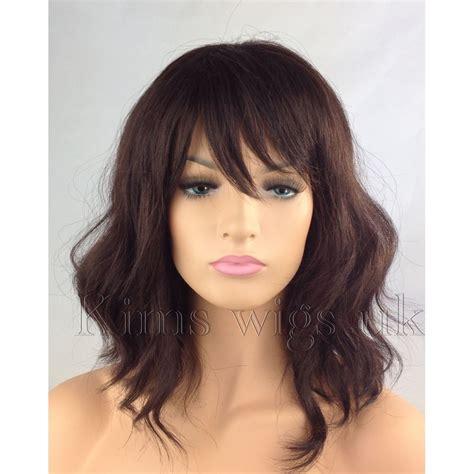 tony and guy shoulder length hair full women ladies fashion hair dark auburn brown wavy