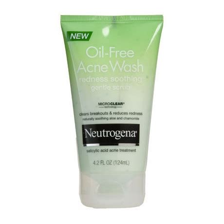 Acne Gentle Scrub neutrogena acne wash redness soothing gentle scrub beautylish
