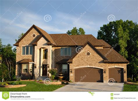 two story luxury two story suburban executive home stock image