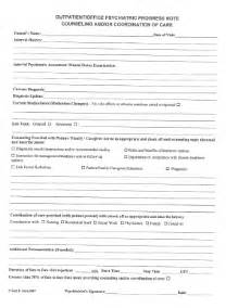 Psychiatric Progress Note Template by Psychiatric Progress Note Template Fill
