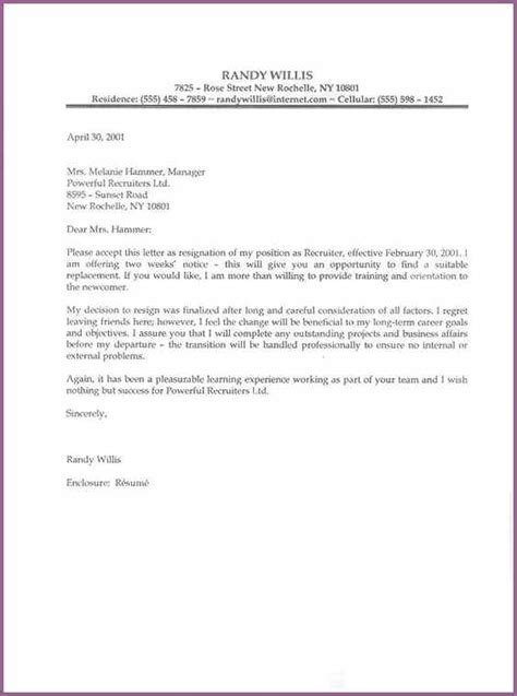 Resume Job Interview Example by Professional Resignation Letter Designproposalexample Com