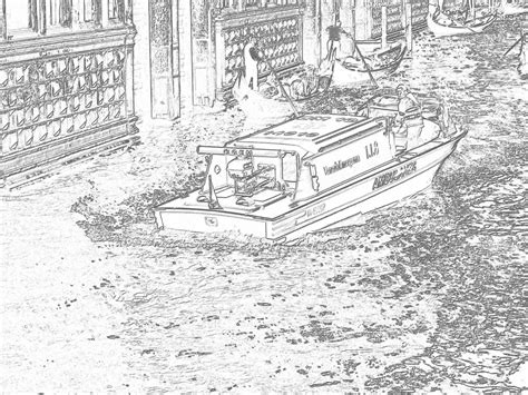coloring pages for adults boats emergency boat venice drawings of venice