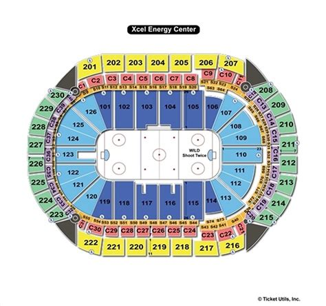 xcel energy center seating map xcel energy center seating chart concert brokeasshome