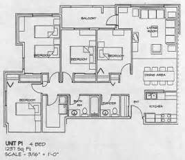 floor plan for four bedroom house city gate housing co op floor plans