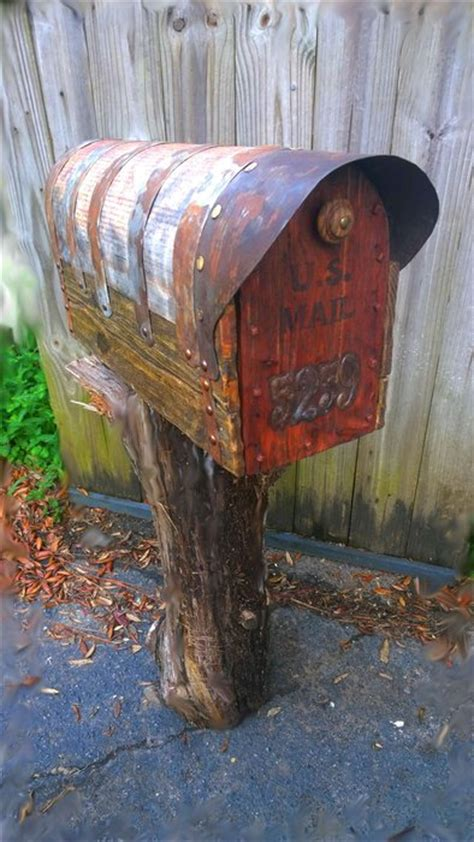 rustic mailbox  cedar door  walther von einik