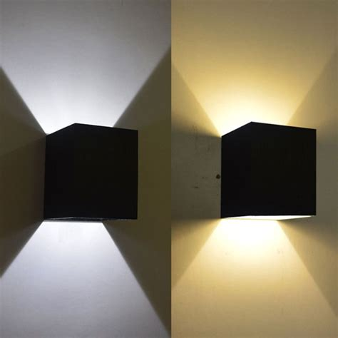 modern 3w day warmwhite led square up wall l spot