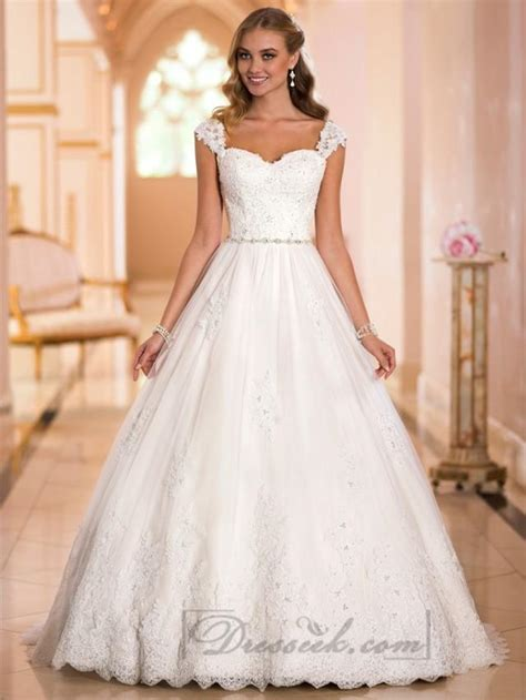 straps sweetheart princess ball gown wedding dresses