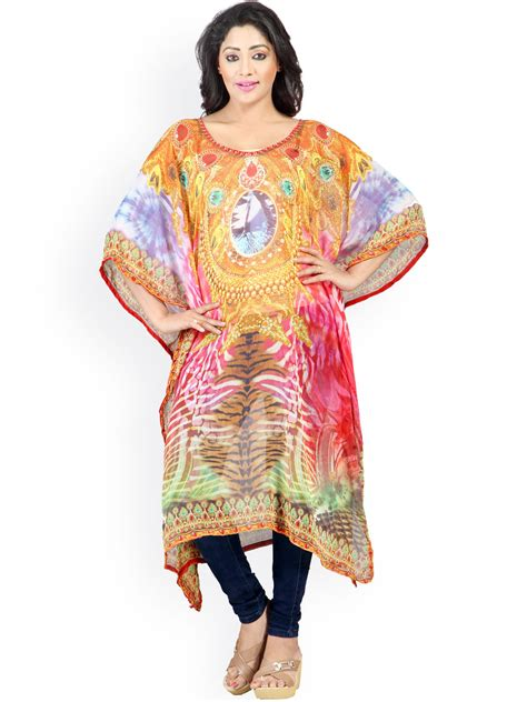 kurta colors myntra 7 colors life style multicoloured printed kaftan