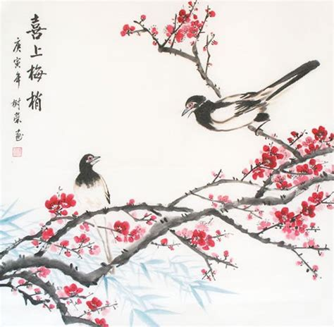 plum blossom tattoo plum blossom painting bird and flower 2361031