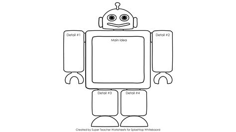 robot template robot writing graphic organizer essay