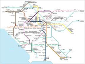 La Metro Map by Fake L A Subway Map What Los Angeles Would Look Like