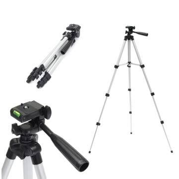 Tripod Stand 4 Section Aluminum Brown 4 section aluminum slr tripod fishing gear