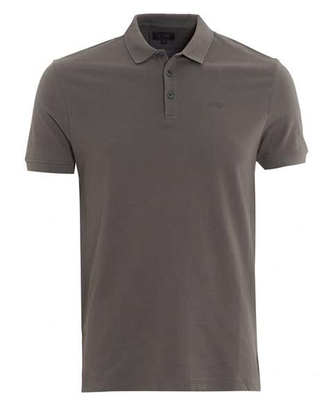 Plain Sleeve Polo Shirt armani mens polo shirt plain grey sleeve polo