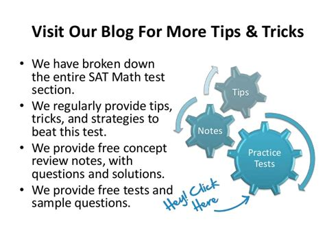 sat math section tips general strategies for the sat math test